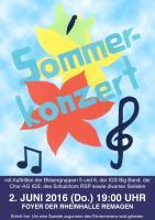Sommerkonzert 2016 - Plakat