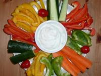 Gemüse mit Dip - Foto/Abbildung: Michaela Lohmer
