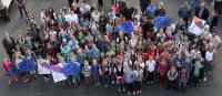 Die Fünftklässler am 1. Schultag - Foto/Abbildung: Sandra Rosa