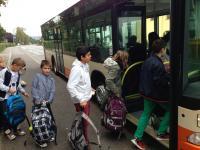 Busschule der Fünftklässler 2014 - Foto/Abbildung: Jörg Jungblut